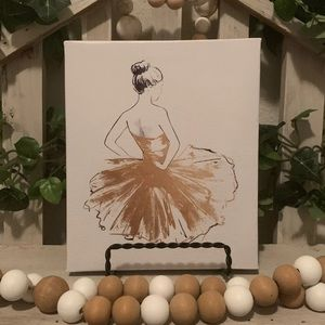 Farmhouse ballerina canvas picture